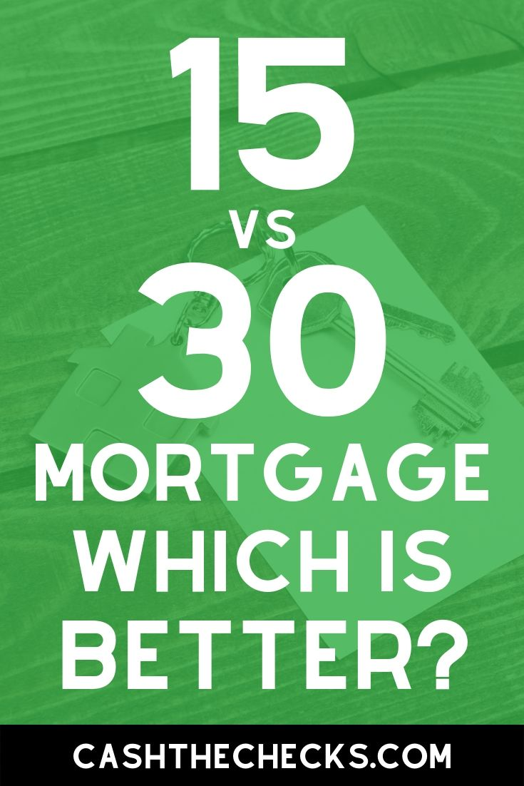 15 year mortgage or 30 year mortgage? Which  home loan is better? #mortgage #loans #homeloans #cashthechecks