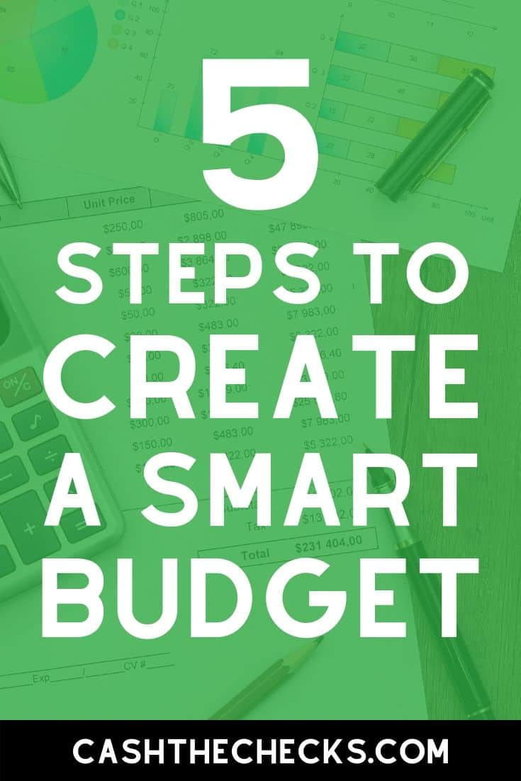 How to create a smart budget to help you and your family save money. #budget #budgeting #personalfinance #cashthechecks