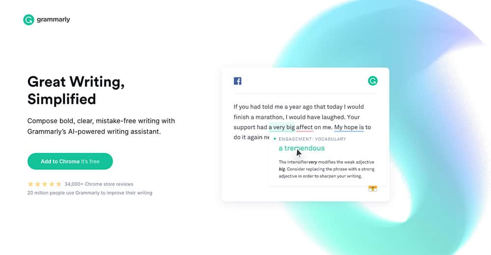 Grammarly productivity tool