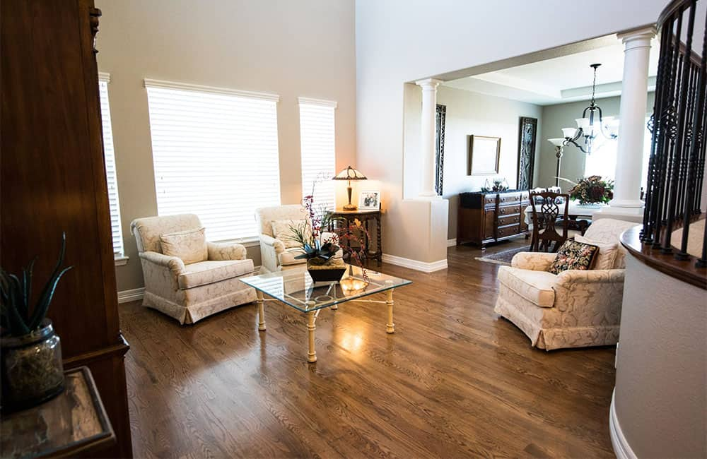 Install new flooring to help sell your home